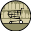Ein Supermarkt ist mit öffentlichen Verkehrsmitteln erreichbar.