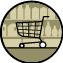 Ein Supermarkt ist mit öffentlichen Verkehrsmitteln erreichbar