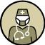 Ein Arzt ist zu Fuß erreichbar