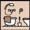 Es gibt Zweibettzimmer mit Bad/Dusche und WC.