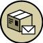 Eine Post ist mit öffentlichen Verkehrsmitteln erreichbar.
