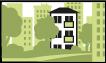 Das Wohnangebot befindet sich im Grünbereich eines Ortes/einer Stadt