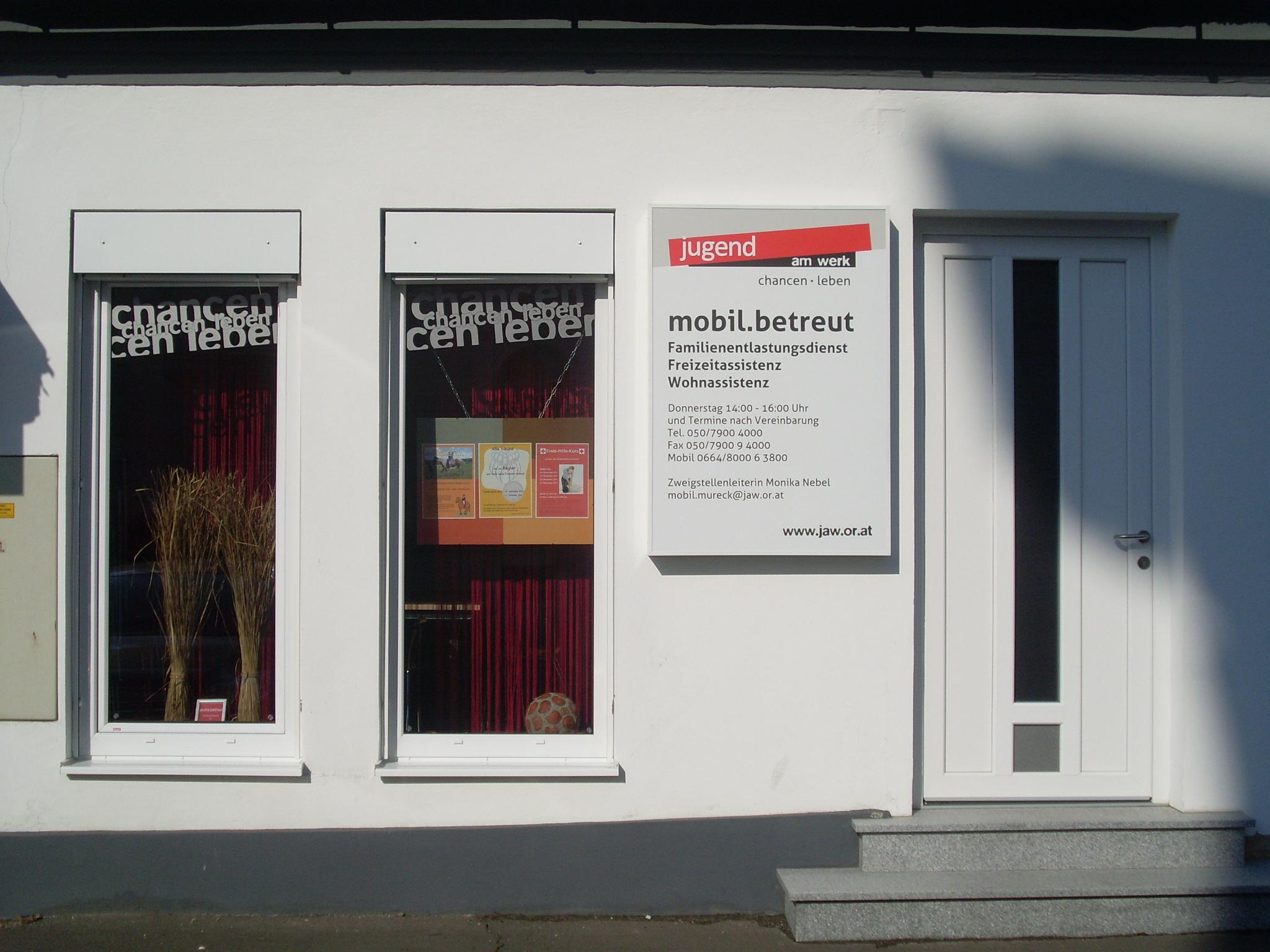 Jugend am Werk   Arbeit und Beschäftigung Mureck Tagesbegleitung und Förderung, Georg-Andreas-Fugger-Straße 6, 8480, Austria